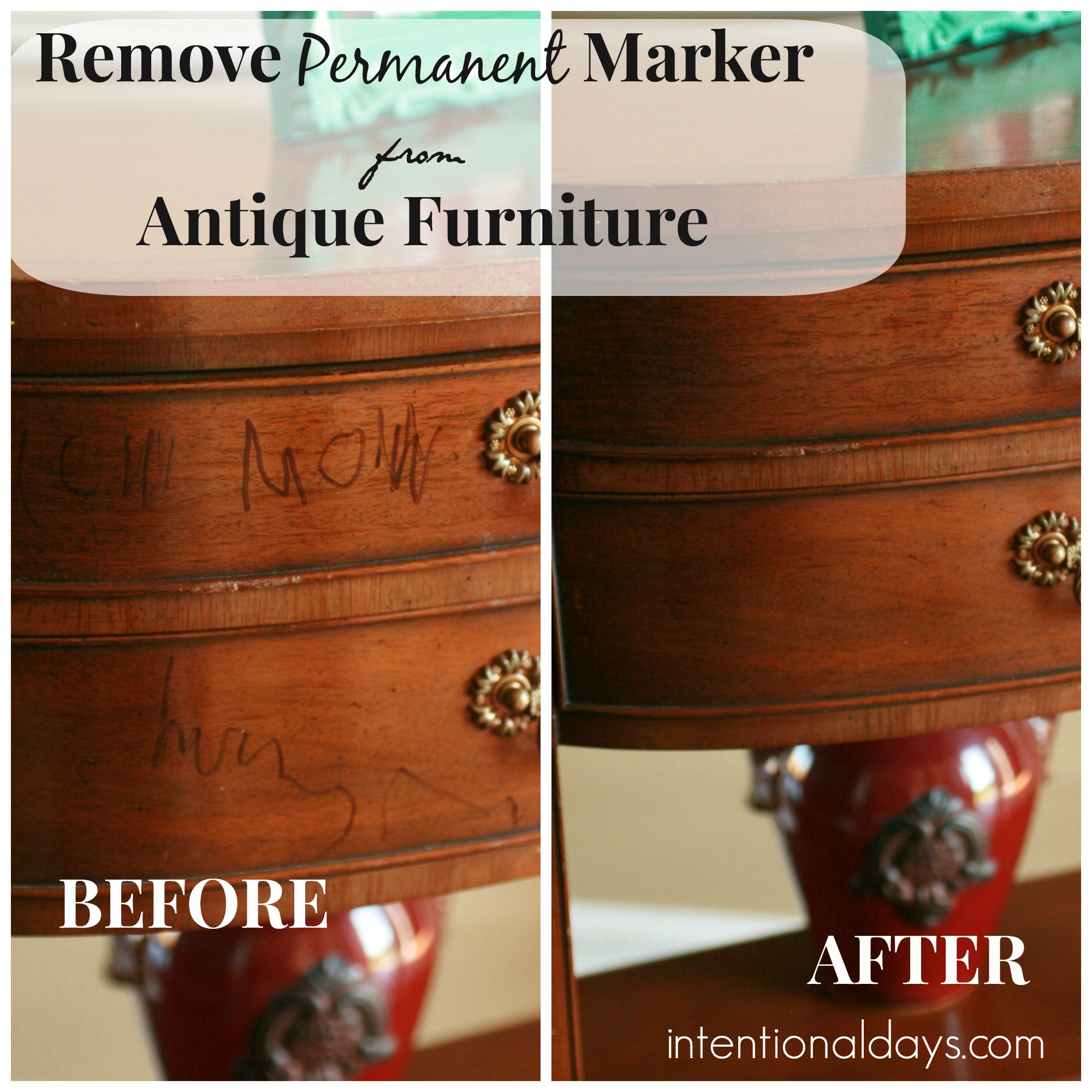 remove permanent marker from furniture intentional days